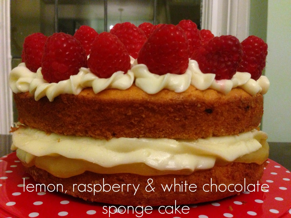 White Chocolate Raspberry Cake La Madeleine