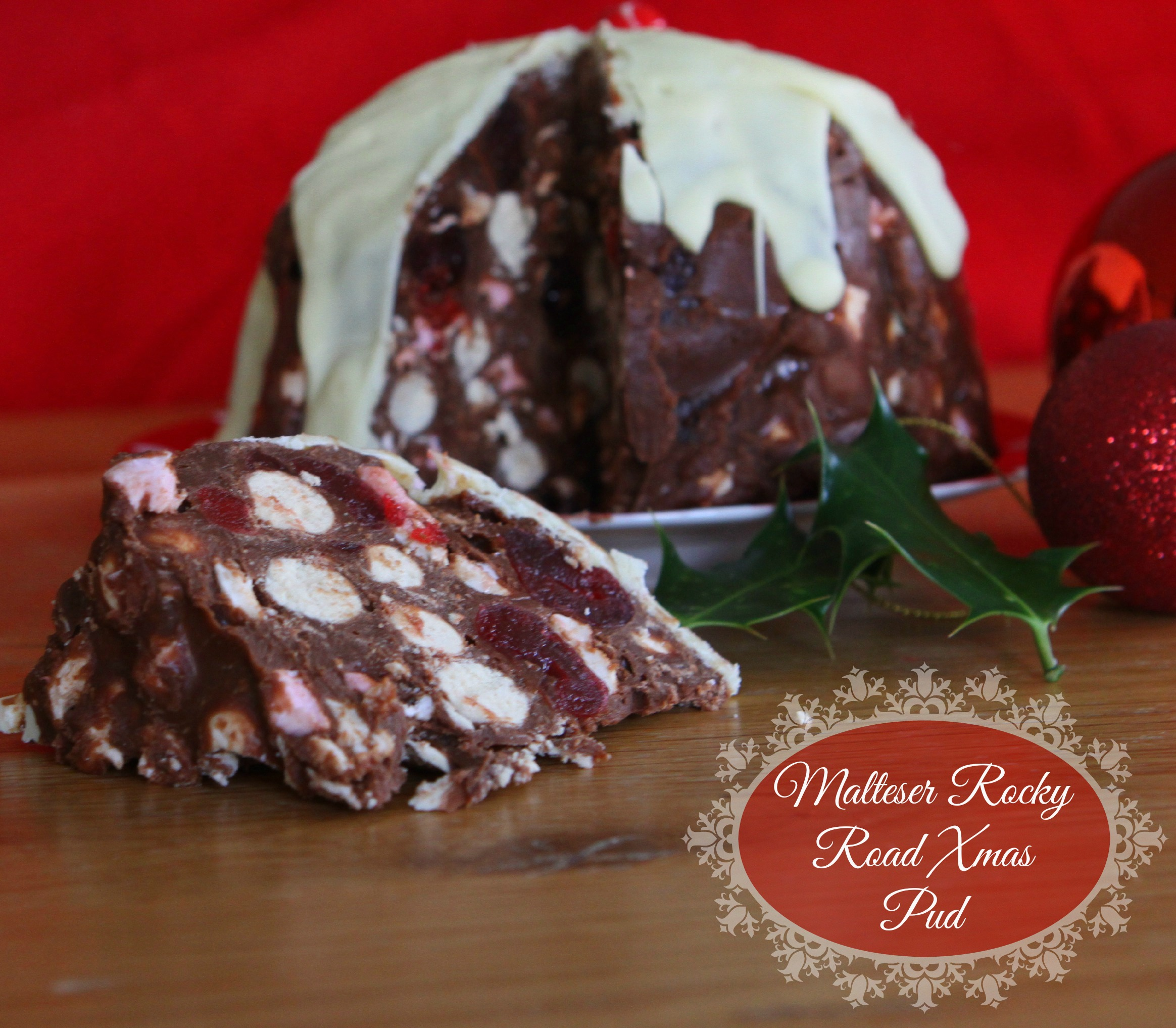 malteser rocky road xmas pud mummy mishaps. Black Bedroom Furniture Sets. Home Design Ideas