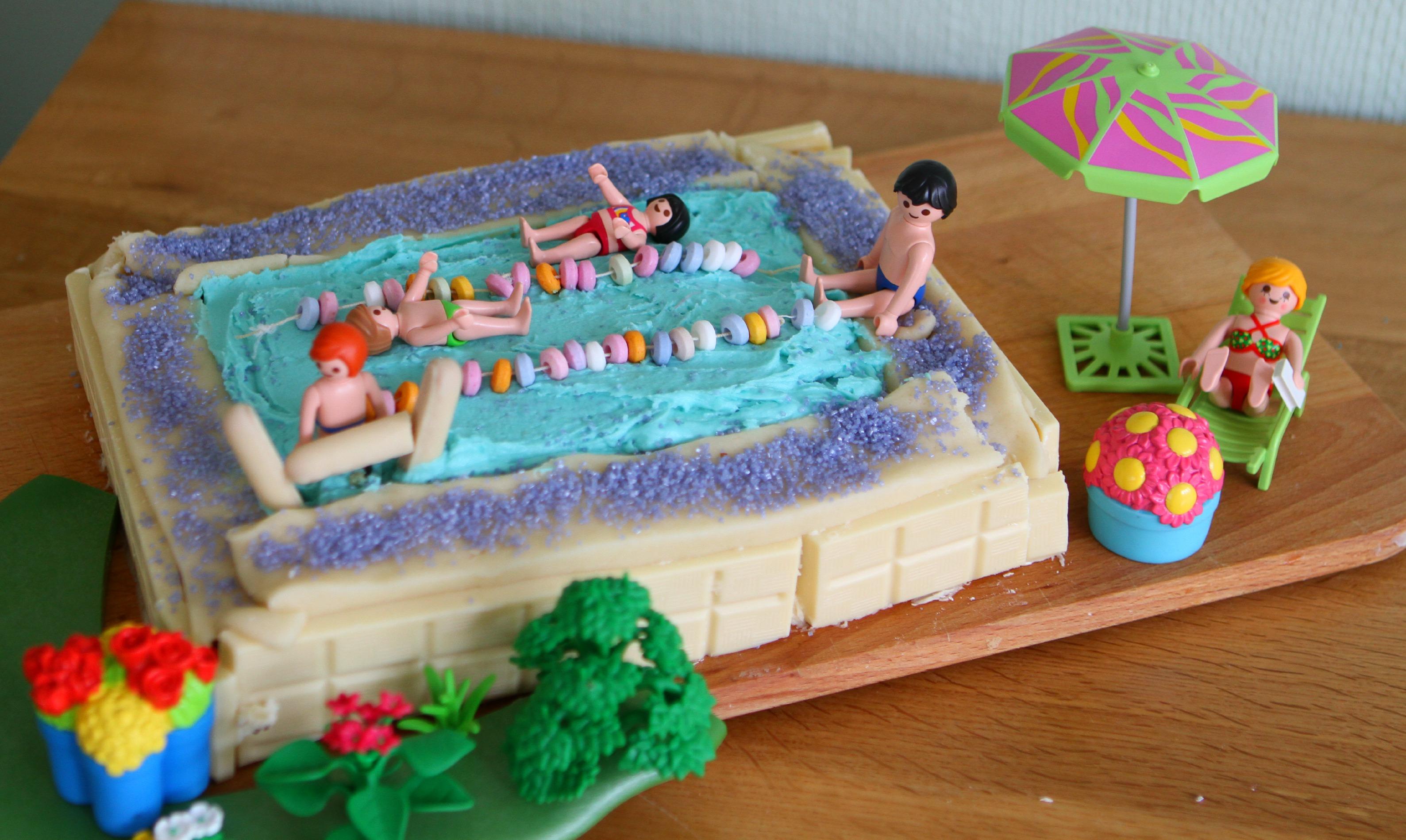 Swimming Pool Cake Team Honk Bake Off Mummy Mishaps