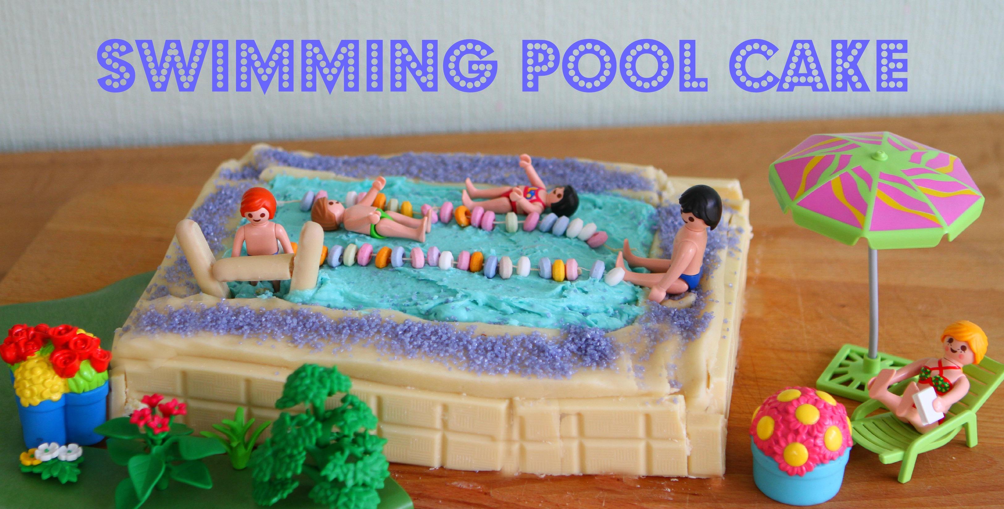 Mummy Mishaps Team Honk Swimming Pool Cake