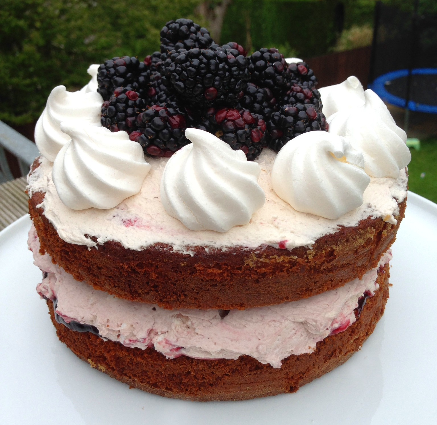 Blackberry Eton Mess Cake - Mummy Mishaps