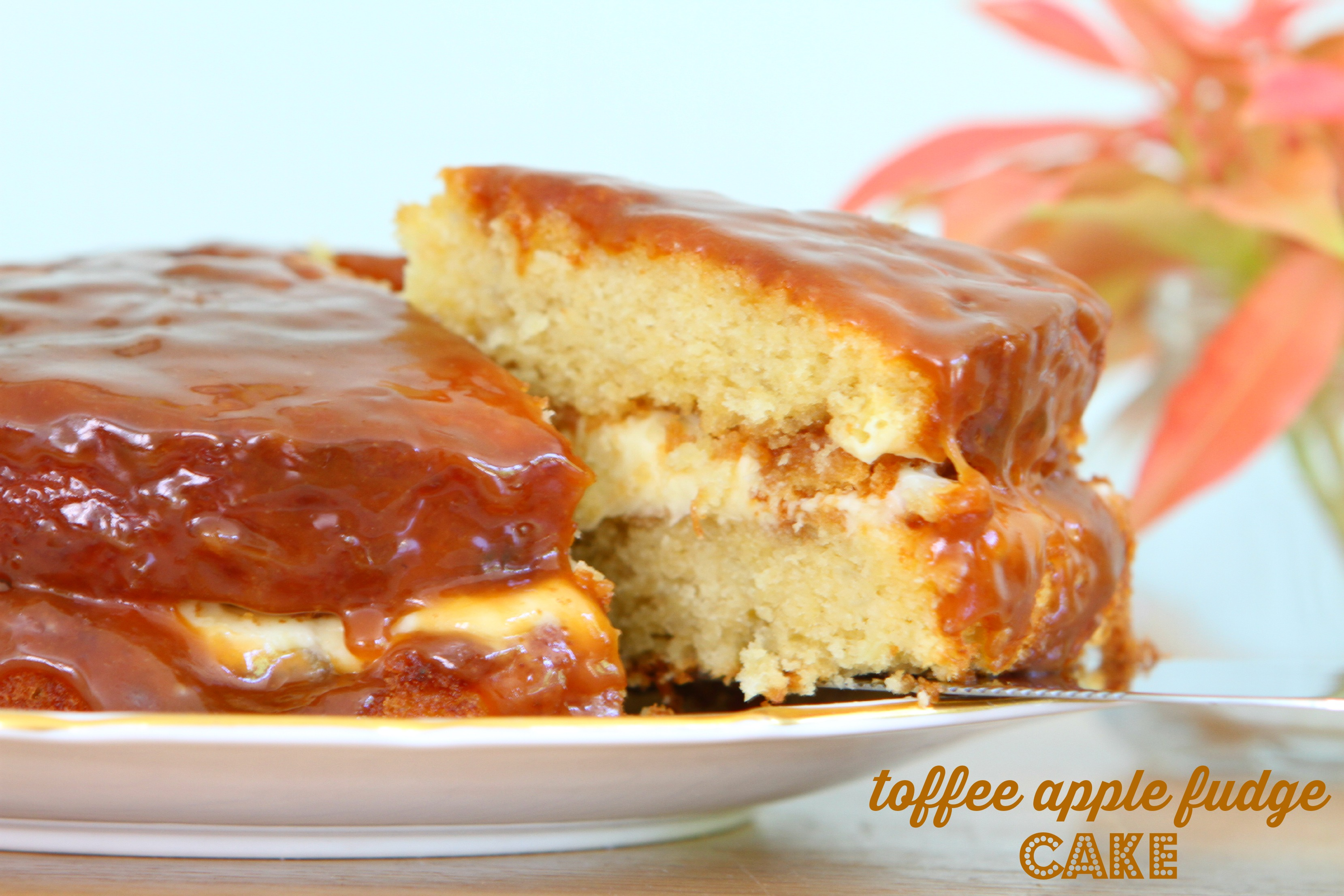 Toffee Apple Fudge Cake