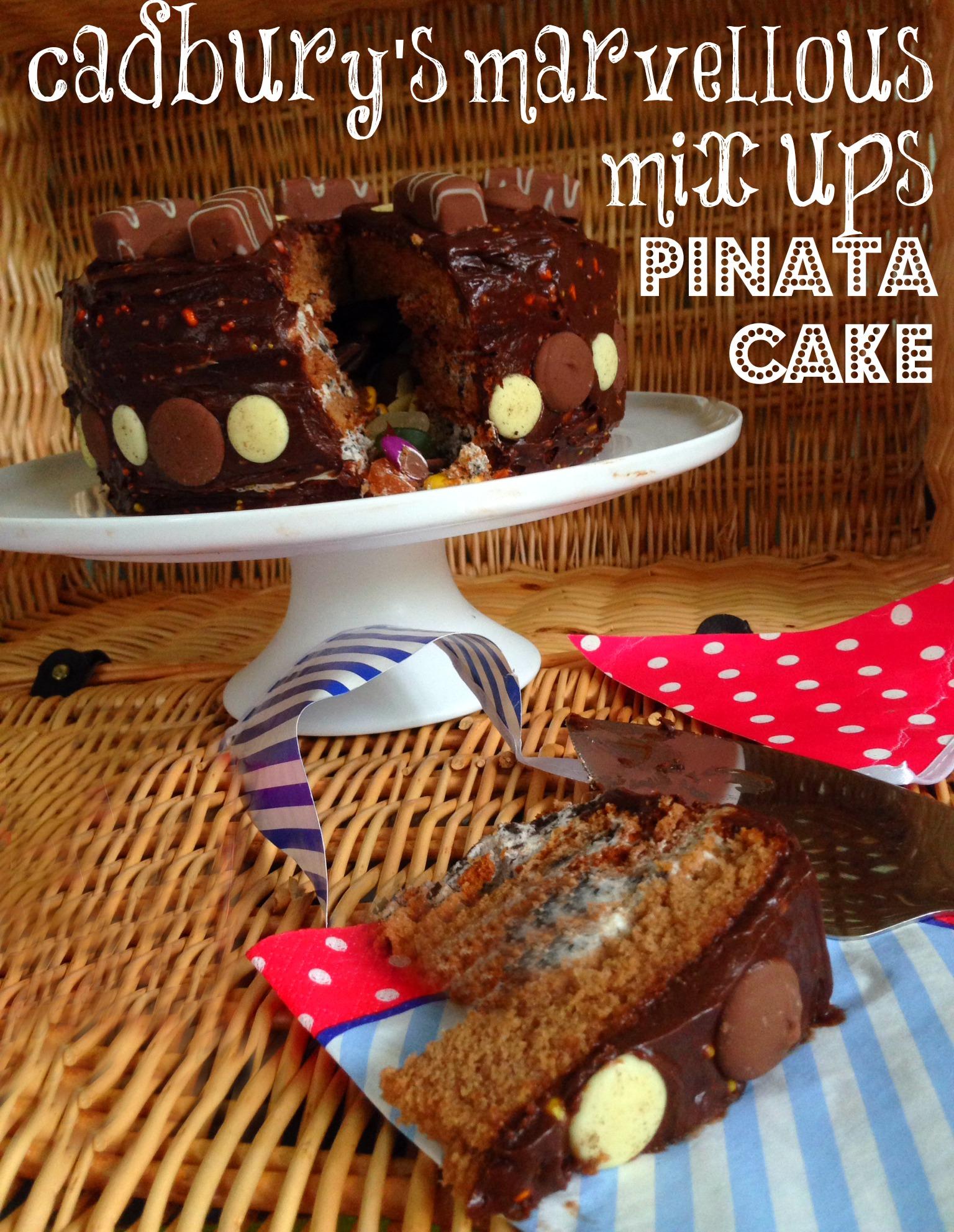 Cadbury S Marvellous Mix Ups Pinata Cake Freethejoy