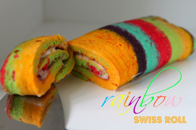 Rainbow Swiss Roll Greatbloggersbakeoff2014 1 Cake