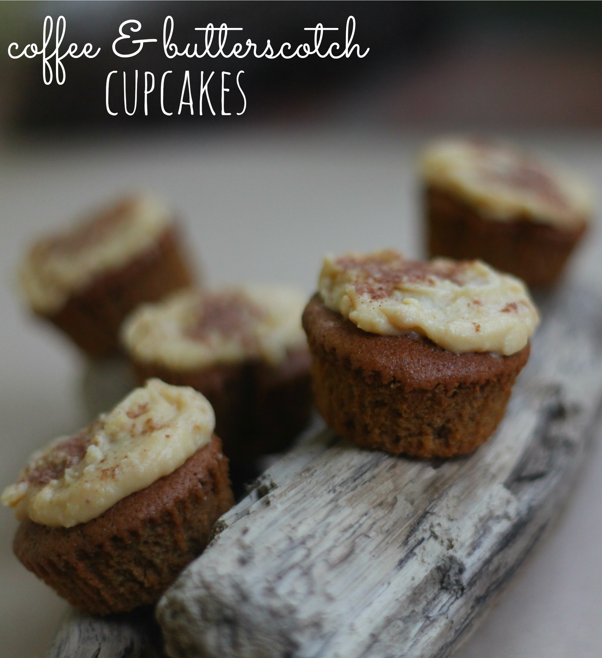 coffee & butterscotch cupcakes