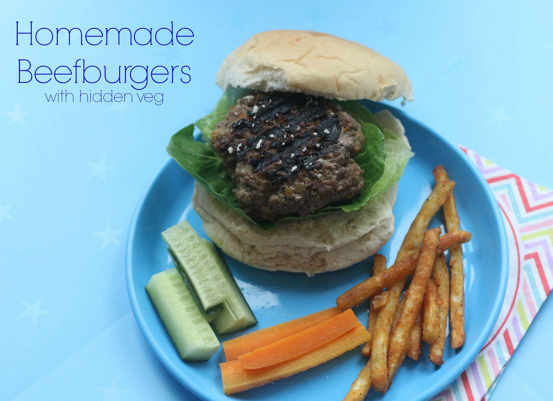 Homemade Beefburger with hidden veg