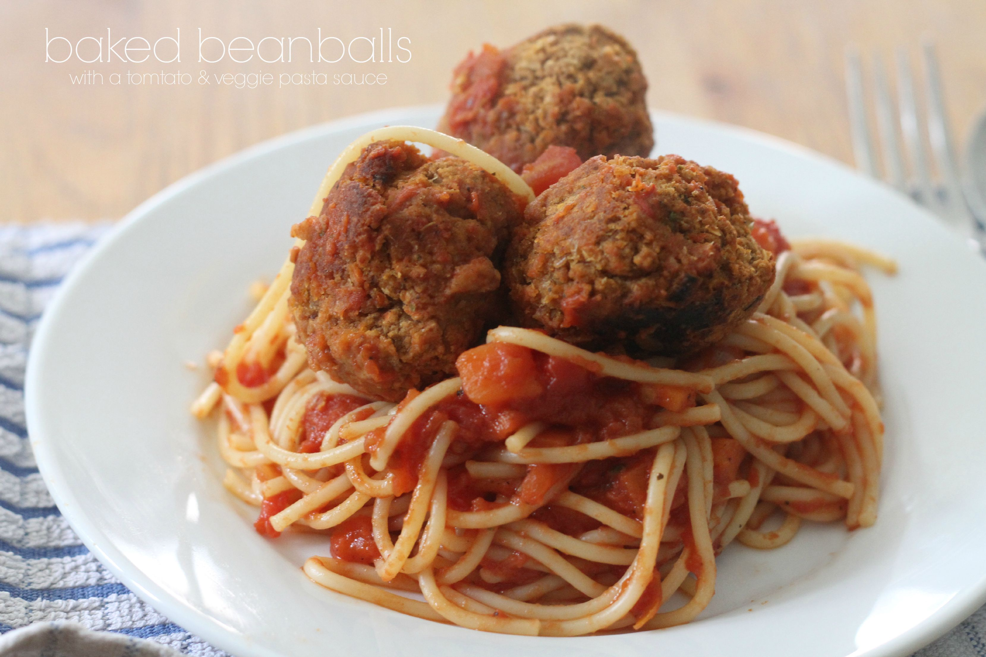 Baked Beanballs with a tomato & veggie pasta sauce - Mummy Mishaps