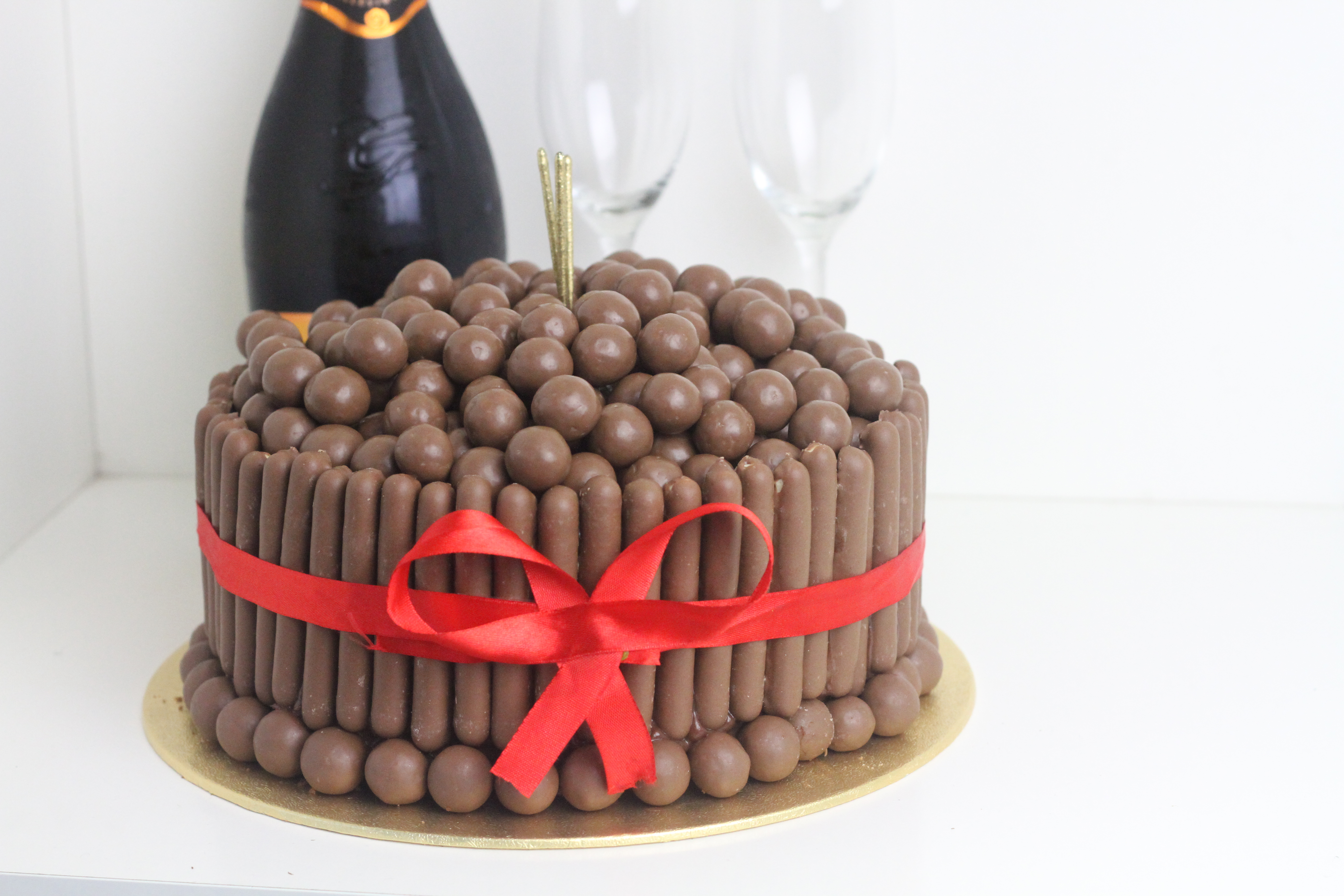 Malteser And Chocolate Finger Cake