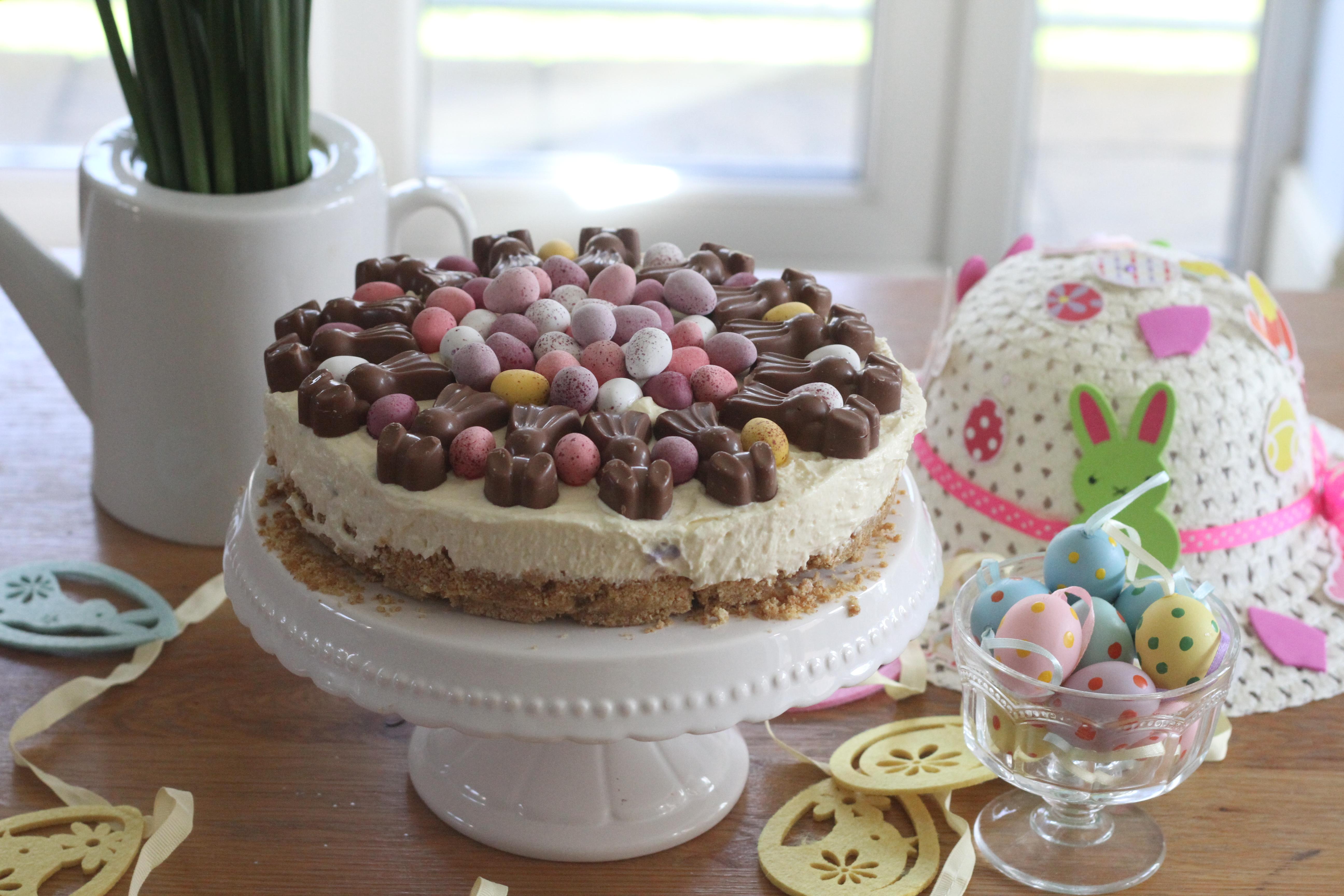 malteaster bunny amp mini egg white chocolate cheesecake