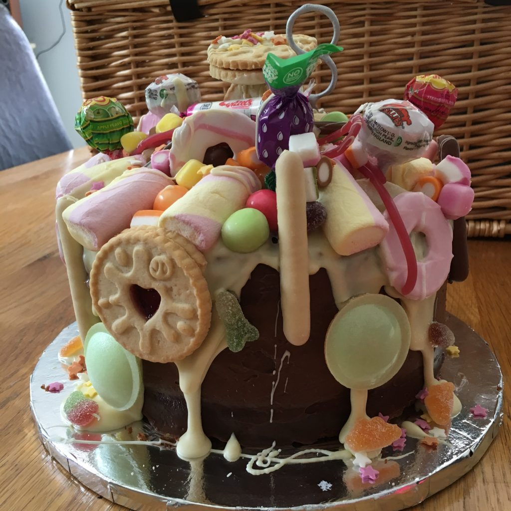 Willy Wonka S Sweetie Shop Topped Chocolate Cake Mummy